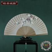 扇子扇子摺扇女式中國風古風古典摺扇日式工藝扇櫻花折疊小扇子
