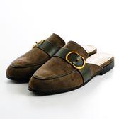 GREEN PINE 扣飾涼拖鞋-綠色