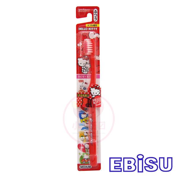 日本EBISU Hello Kitty牙刷B-6180(1入)【小三美日】