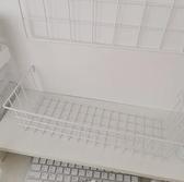 網格照片墻鐵藝置物架粉色少女心房間布置墻壁裝飾簡約照片架 【韓語空間】