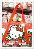 ♥小花花日本精品♥Hello Kitty草莓造型圖大容量手提包帆布包托特包42046509