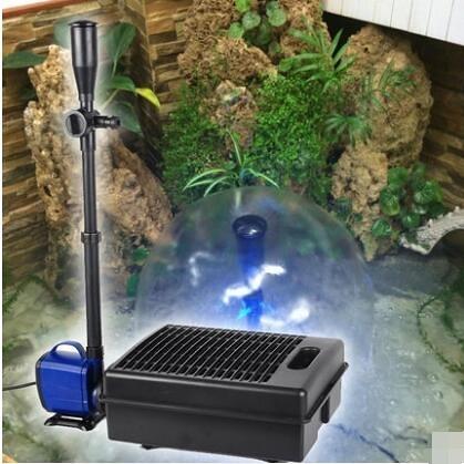 SOBO松寶 魚池過濾器錦鯉魚池過濾器陽臺噴泉循環水泵淺水低水位 小山好物
