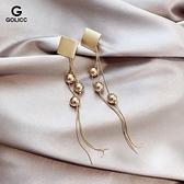 925銀針長款流蘇誇張耳環新款潮氣質時尚女耳墜網紅個性耳飾 育心館