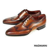 【MAGNANNI】翼紋雕花德比紳士皮鞋 棕色(14603-COG)
