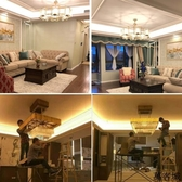 220V超亮led燈帶客廳吊頂家用180燈珠暖白光5730長條燈線戶外防水 萬客城