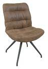 【森可家居】邦妮鐵藝棕色麂皮單人椅 8JF38352 復古 英倫 北歐工業風 設計師款 軟坐墊