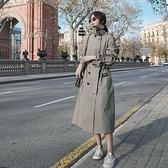 風衣外套-長版雙排扣寬鬆經典通勤女大衣2色73yr1[巴黎精品]