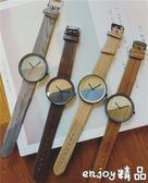 手錶男女學生韓版簡約潮流ulzzang復古木紋創意個性情侶石英手錶  enjoy精品