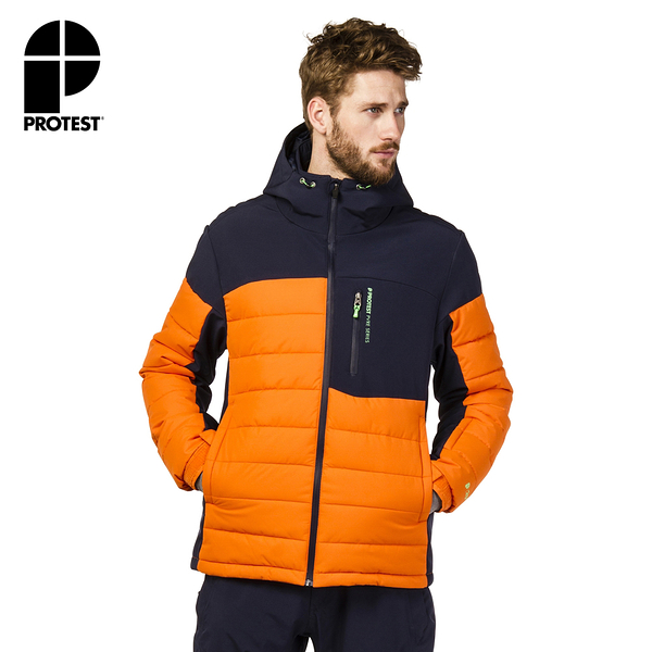 PROTEST 男 機能防水保暖外套 (椒澄色) MOUNT 17 SNOWJACKET