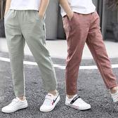 薄款長褲男童褲子童裝兒童九分褲休閒褲中大童防蚊褲 k-shoes