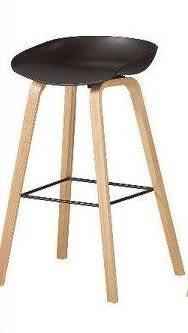 8號店鋪 森寶藝品傢俱 品味生活 c-01 餐廳 吧檯椅系列1043-8伊絲吧椅(黑)(實木)(8319)