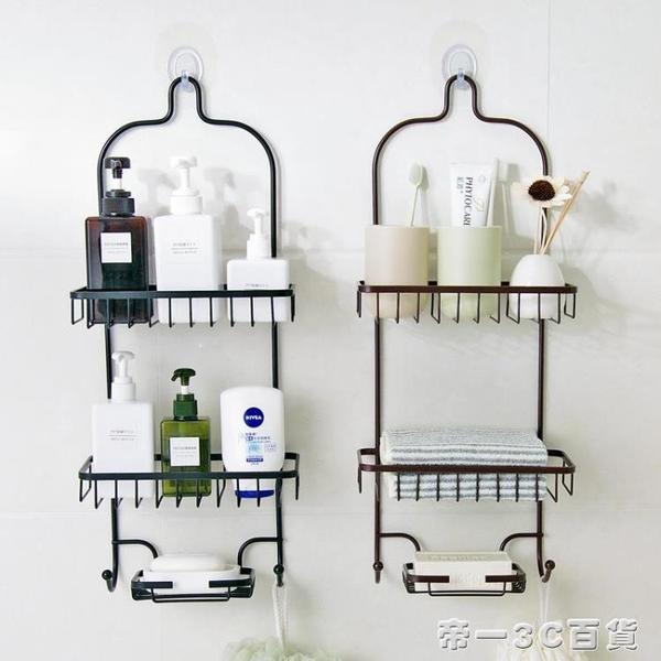 浴室免打孔置物架衛生間鐵藝收納架廚房多層整理掛架壁掛式儲物架【帝一3C旗艦】YTL