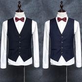 馬甲男西裝韓版潮流西服薄款小修身英倫正裝夏季休閑工裝男士外套 JA2906『時尚玩家』