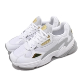 adidas 休閒鞋 Falcon W 白 金 女鞋 皮革鞋面 老爹鞋 運動鞋 【ACS】 FV5091