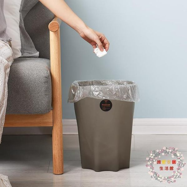 家用客廳臥室日式垃圾桶衛生間廁所塑料筒廚房辦公室創意大號紙簍 XW全館免運