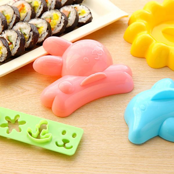 大4件組 造型模具 DIY模具 野餐 廚房 親子 動物 可愛 卡通造型飯糰米飯模具【J016-1】米菈生活館