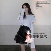 小皮裙 開叉黑色小皮裙a字裙半身裙設計感秋冬女高瘦包臀pu短裙子潮