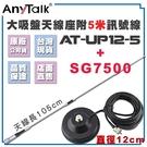 AnyTalk 【大吸盤天線座附5米訊號線+AT-SG7500】無線電對講機 雙頻 超長型 天線 105cm 車機收發
