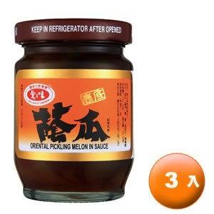 愛之味 壼底蔭瓜 玻璃罐 140g (6罐)/組