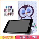 Acer 宏碁 Iconia One 7 B1-790 平板皮套 新款皮套 超薄 b1-790 保護套 支架 三折彩繪 7吋 保護殼