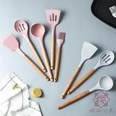 5件套 耐高溫硅膠鍋鏟勺子廚具套裝家庭實用【櫻田川島】