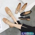 瑪麗珍鞋 粗跟單鞋女春季新款奶奶鞋復古方頭瑪麗珍鞋低跟工作鞋豆豆鞋 星河光年