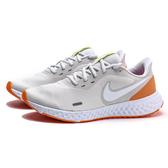 NIKE REVOLUTION 5 白灰橘 基本 網布 透氣 慢跑鞋 男(布魯克林) BQ3204-006