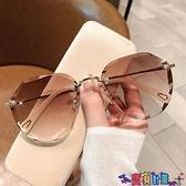 太陽眼鏡 墨鏡女2021年新款圓臉韓版潮時尚太陽眼鏡防紫外線大臉顯瘦GM 618狂歡