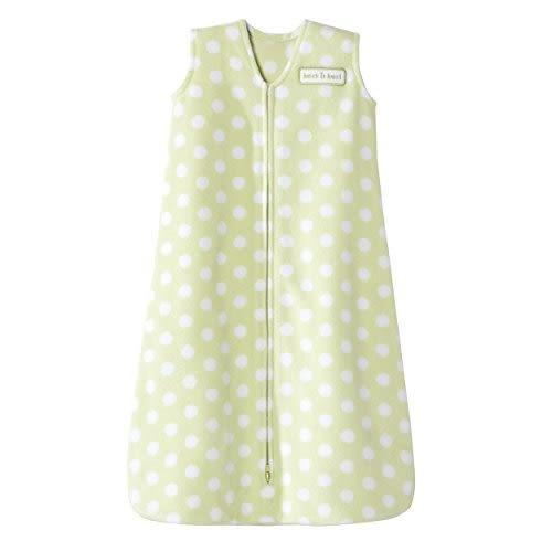 【HALO】防踢包巾-刷毛-綠底白點 XL #3808