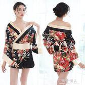 情趣內衣女性感日式和服套裝制服誘惑三點式小胸睡衣舞臺錶演套裝 完美情人精品館 YXS