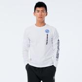 BigTrain 翻轉潮流基本圓領長袖T-男-漂白-B2036880