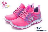 SKECHERS女童訓練鞋 雙向彈性鞋面 寬楦 DIAMOND RUNNER童運動鞋P8224#粉紅◆OSOME奧森童鞋
