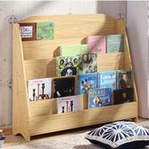 卡通兒童書架簡易幼兒園繪本架寶寶書報架圖書架落地置物架展示架(大號)【時尚家居館】