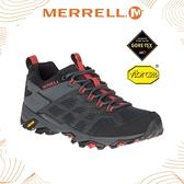 【MERRELL 美國 男 MOAB FST 2 GORE-TEX多功能健行鞋 《黑/橘》】ML77443/休閒鞋/登山鞋