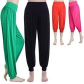 瑜伽服瑜伽褲子夏薄款莫代爾燈籠褲女運動瑜伽褲舞蹈服裝大碼長褲