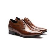 Waltz-簡約雕花內增高紳士德比鞋 213003-06棕