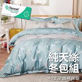 #YN32#奧地利100%TENCEL涼感40支純天絲7尺雙人特大全鋪棉床包兩用被套四件組(限宅配)專櫃等級