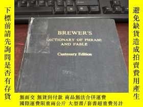 二手書博民逛書店BREWERS罕見DICTIONARY OF PHRASE AND FABLE (Centenary Editio