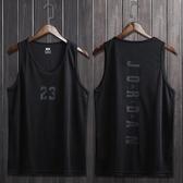 球服 籃球服運動背心男女23圓領t恤無袖訓練球衣寬鬆健身五分透氣坎肩 城市科技