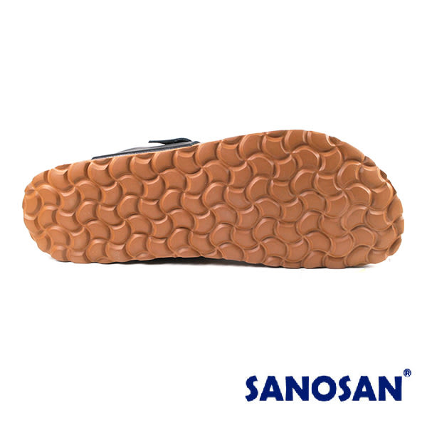 【Sanosan】sietelunas磁氣休閒人字涼拖鞋/男鞋 黑色(S4370-BL)