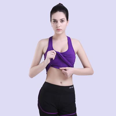 運動背心夏瑜伽跑步健身上衣帶胸墊吸濕排汗無鋼圈胸衣  -124820011