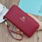 皮夾 女式錢包軟皮新款大容量拉鏈皮夾 荔枝紋錢包可放手機手拿包 交換禮物