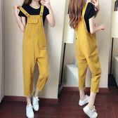 【新年鉅惠】孕婦背帶褲子新款夏裝時尚款套裝潮媽正韓寬鬆休閒兩件套