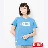 CHUMS 日本 女 LOGO 短袖T恤 藍 CH111324A001