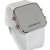 果凍鏡面錶磨砂LED電子手錶鏡子矽膠錶鏡面錶學生情侶錶【極有家】