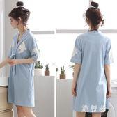 睡衣裙女夏清新學生棉質可愛日式短袖寬鬆家居服套裝 BF4724【旅行者】