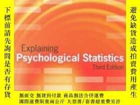 二手書博民逛書店Explaining罕見Psychological StatisticsY255562 Barry H. Co