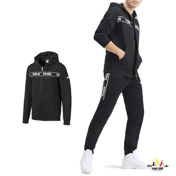 Puma Amplified 黑色 男 外套 連帽外套 棉質 運動 休閒 長袖 保暖 內刷毛 運動外套 58043301