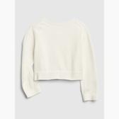 Gap女嬰棉質舒適純色紐扣針織開衫543569-光感亮白