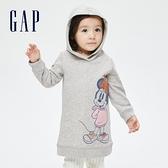 Gap女幼童 Gap x Disney 迪士尼系列刷毛洋裝 732868-灰色